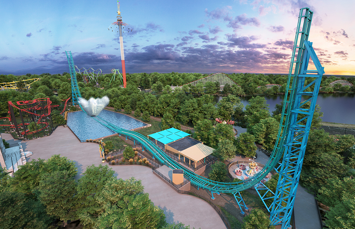 Six Flags Overt Texas Aquaman Power Wave Boat